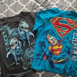 Other - Boys tees 6 Superman Dino 🦖🦕🤓💥